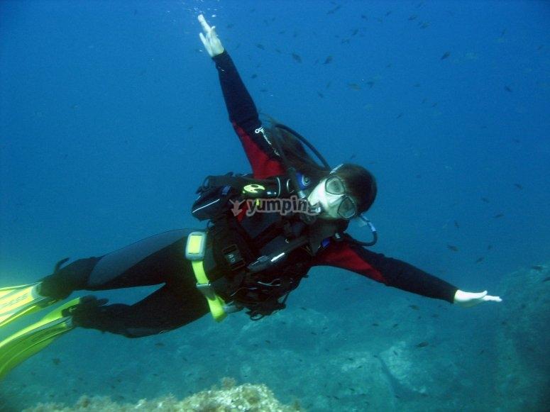 Primera inmersión de buceo en Aguadulce