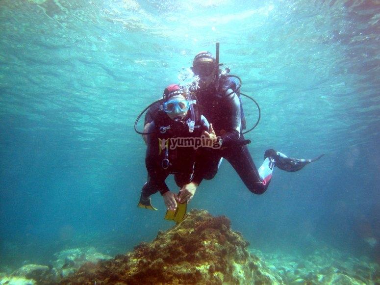 Bautismo de buceo Roquetas de Mar