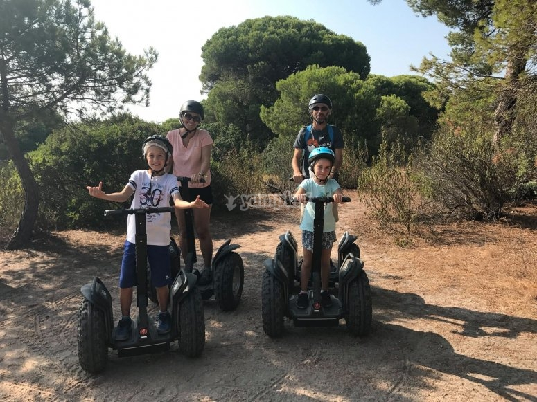 Ruta familiar en segway