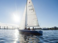 Students learning to sail