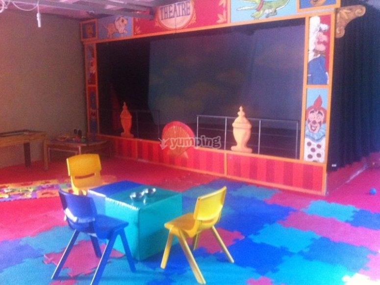 Escenario del parque infantil