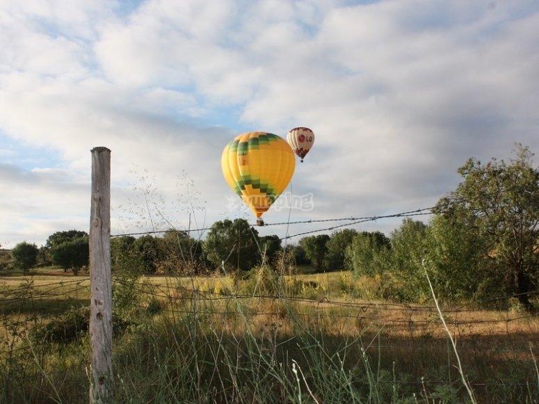 Volar en globo en Guadarrama