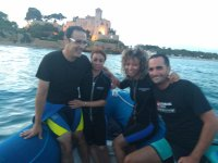 With the castle of Tamarit