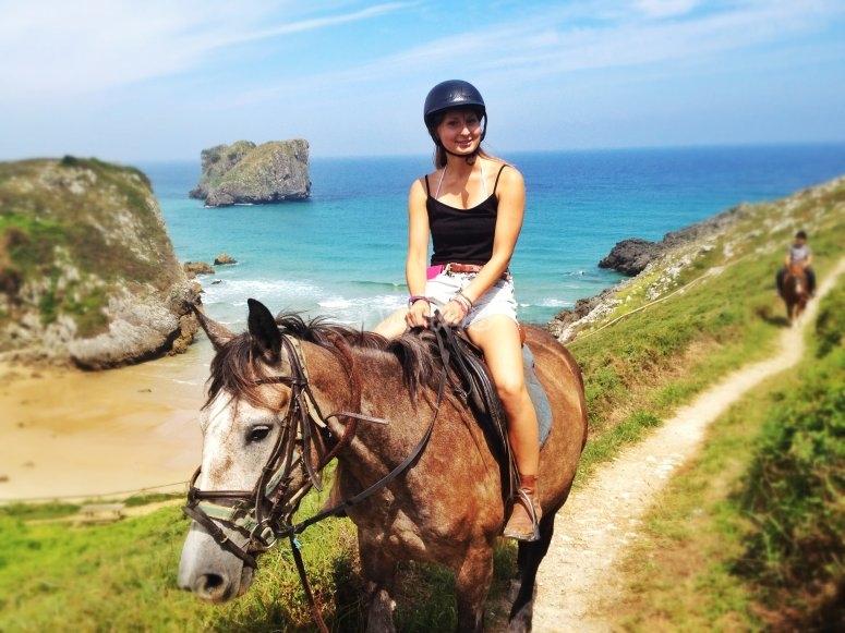 Paseo a caballo por Palombina