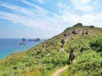 Sendero a caballo sobre la costa de Asturias