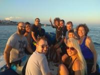 Gruppo sulla barca