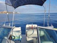 nuestro barco por dentro