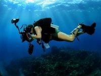 Haciendo fotografia submarina