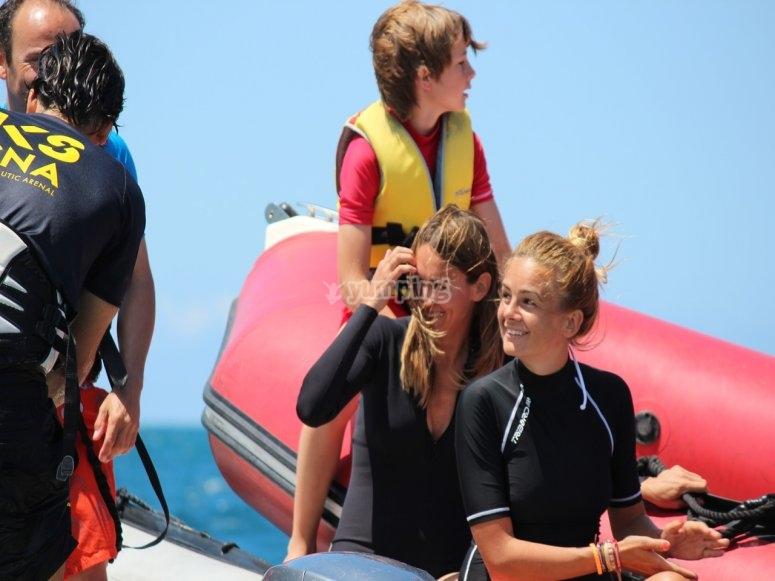 Alumnas del bautismos de kitesurf