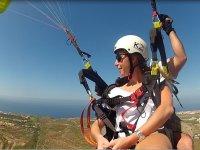 学习飞翔滑翔伞