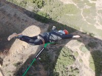 Bungee jumping with fully open arms