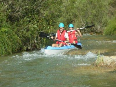 Ruta en kayak Júcar de 1 h y 15 min con barbacoa