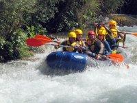 Blue rafting raft