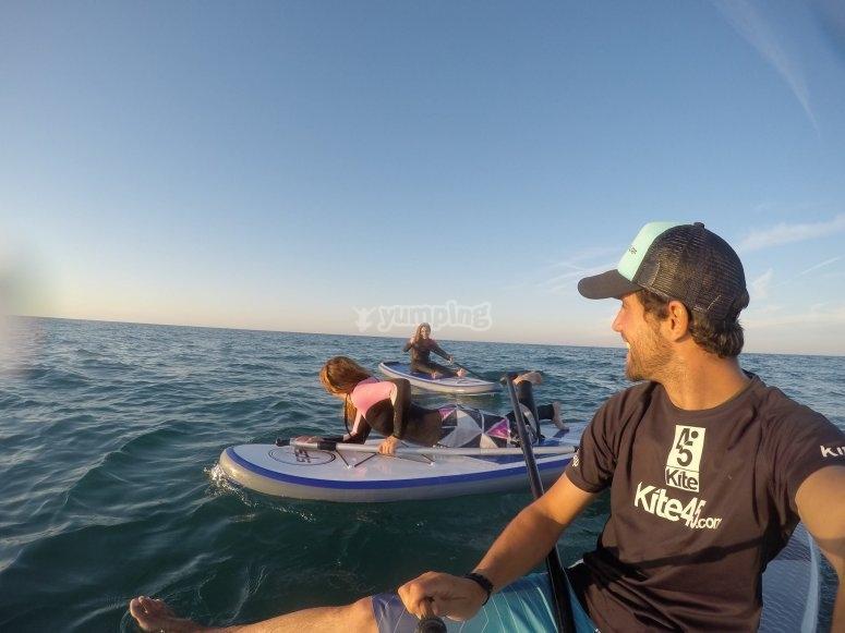 Paddle surf en mar abierto