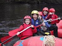 rafting con los peques