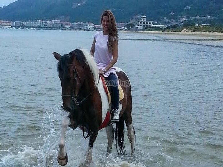 Horseriding in the water