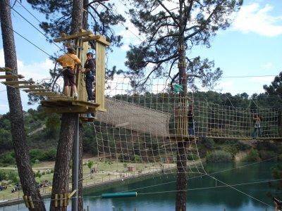 Parque con tirolinas en Guadarrama tarifa adultos