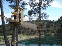 Zip-lining park in Guadarrama for adults