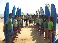 Gruppo di surf