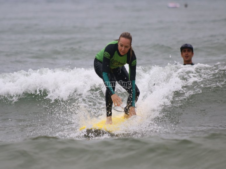 Surfing in Suances