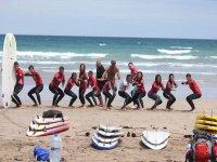 集团露营学习冲浪