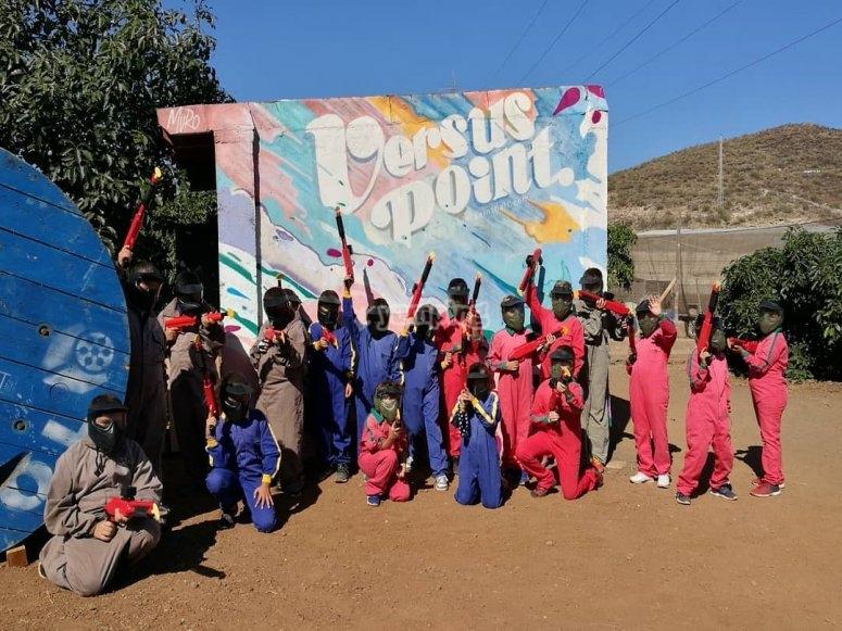 Partida de paintball infantil en Tenerife