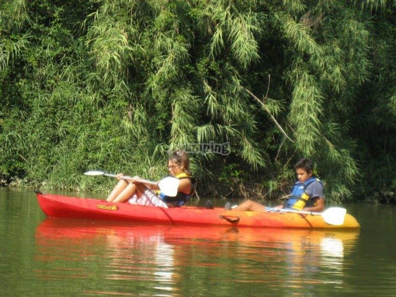 ruta en kayak por el ter.