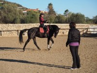 Clase de equitacion en Sitges