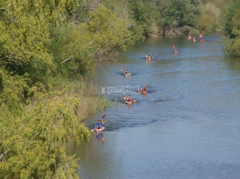 Fun at the Ter river