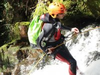 Rappelling a section of the river