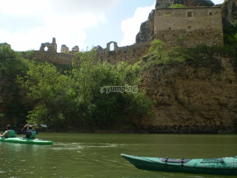 Monasterio de la Hoz seen from the river.