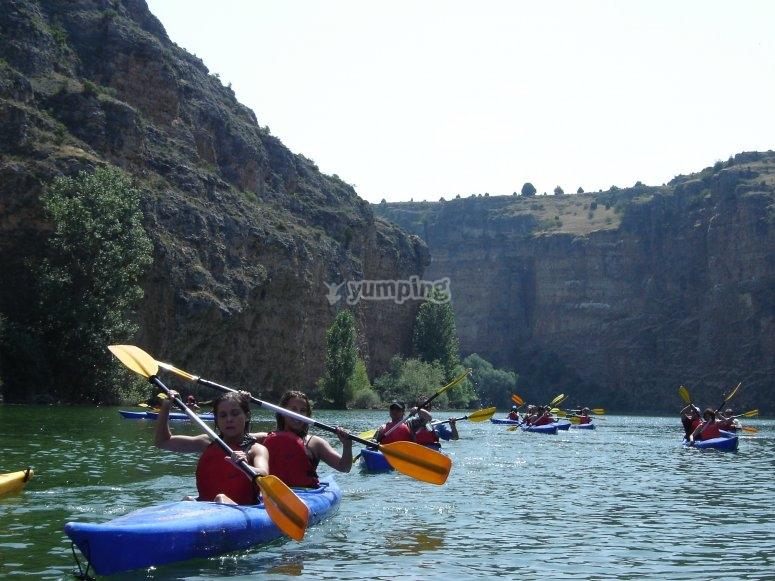 Kayaking in Duratón