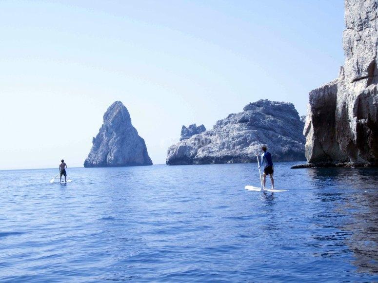 Recorrido de paddle surf