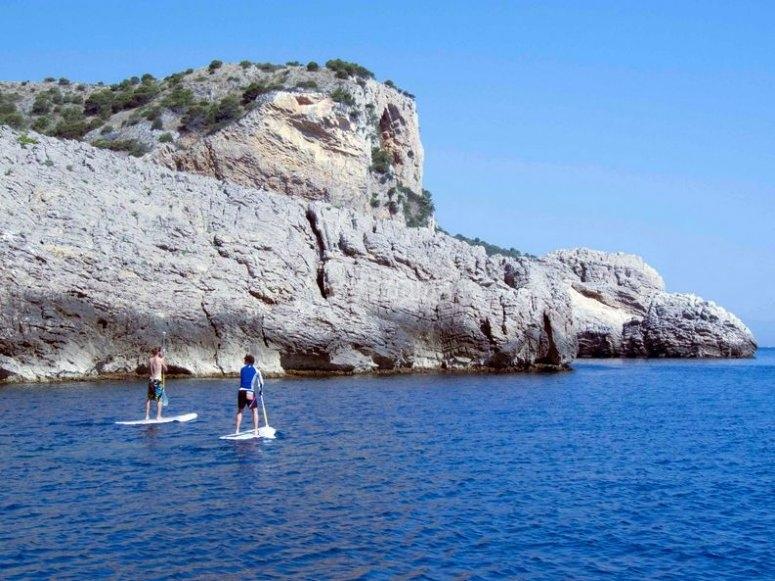 Ruta en paddle surf, Roca Foradada