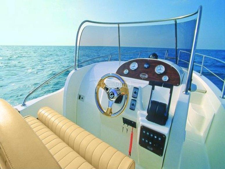 Remolcándote desde el barco
