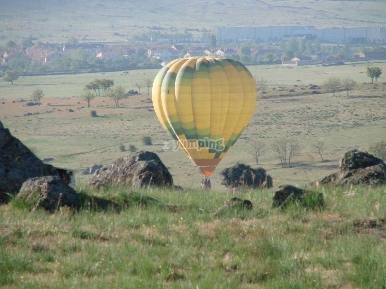 Hacer un vuelo en globo en Guadarrama