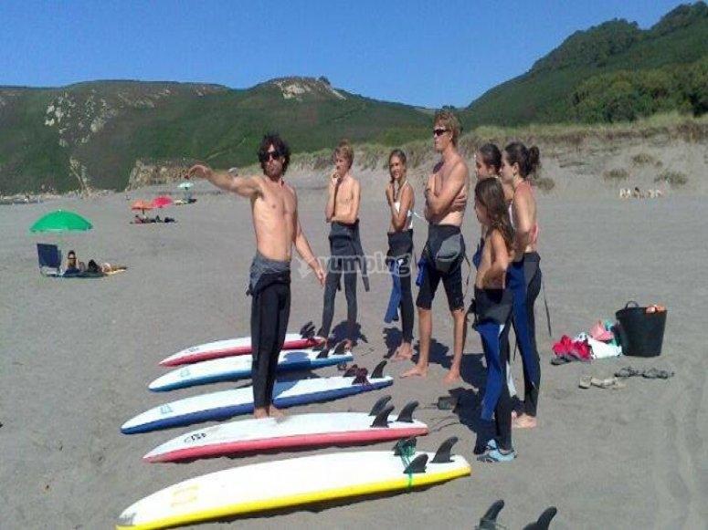 Starting in surf activities in Asturias
