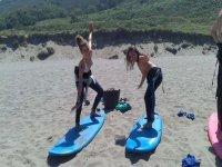 Surfcamp每天有2个班级在阿斯图里亚斯