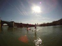 Stand Up Paddle a la caída del sol