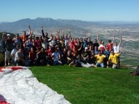 A group after paragliding