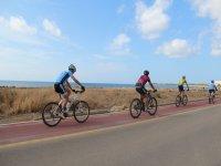ruta ciclista por la carretera