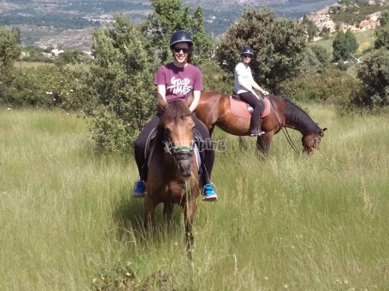 Cabalgando por la naturaleza