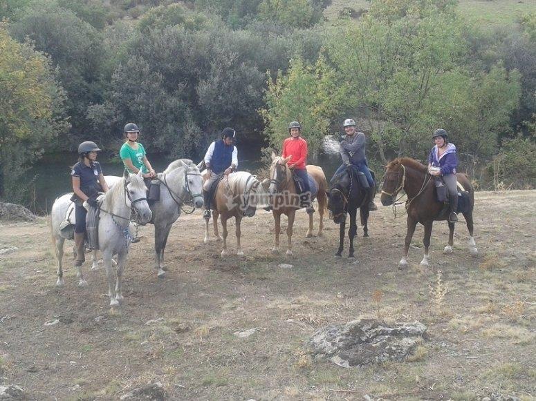 Excursion a caballo en La Cabrera