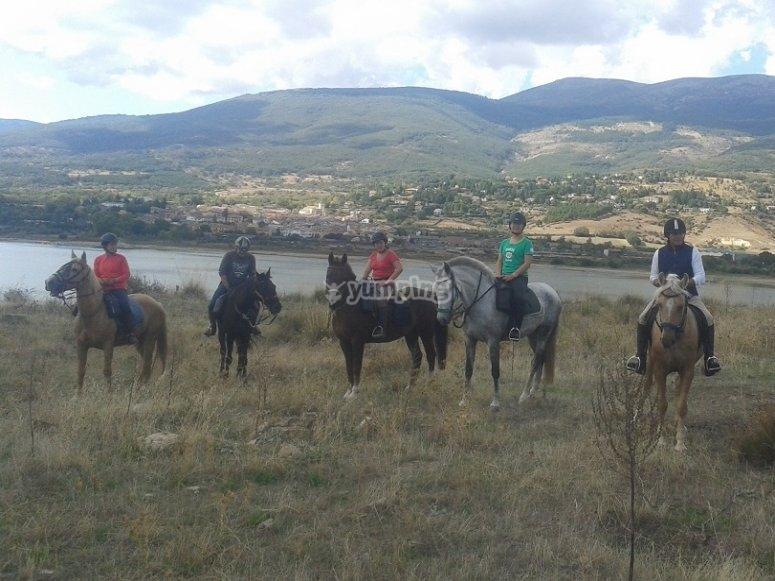 Relajante excursion a caballo