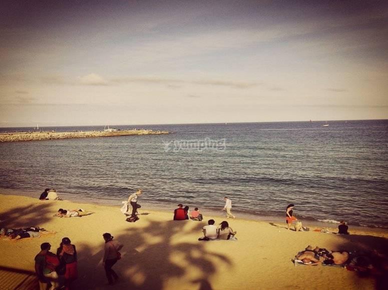 巴塞罗那海滩