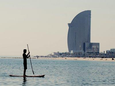 Allenamento di paddle surf a Barcellona 1 ora