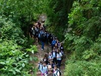 hiking with the school