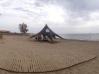 Tenda sulla spiaggia