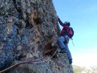 Climbing in Peña Ruaba