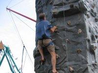 climbing in the rocodromo
